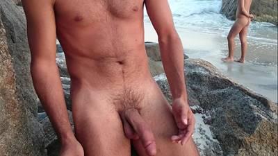 Punheta na praia